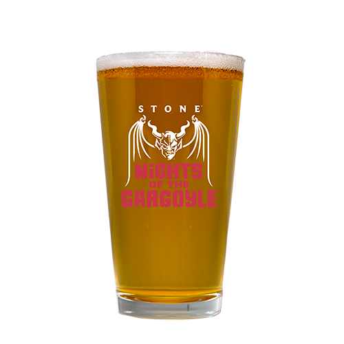 Nights of the Gargoyle pint glass