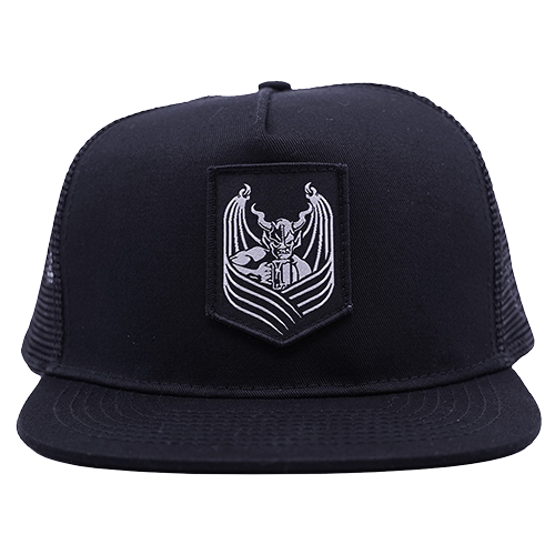 Stone snapback shield hat