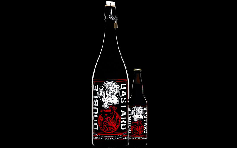 Bottle of double bastard ale