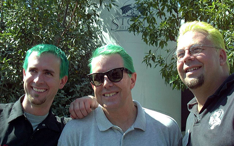 Green hair for charity