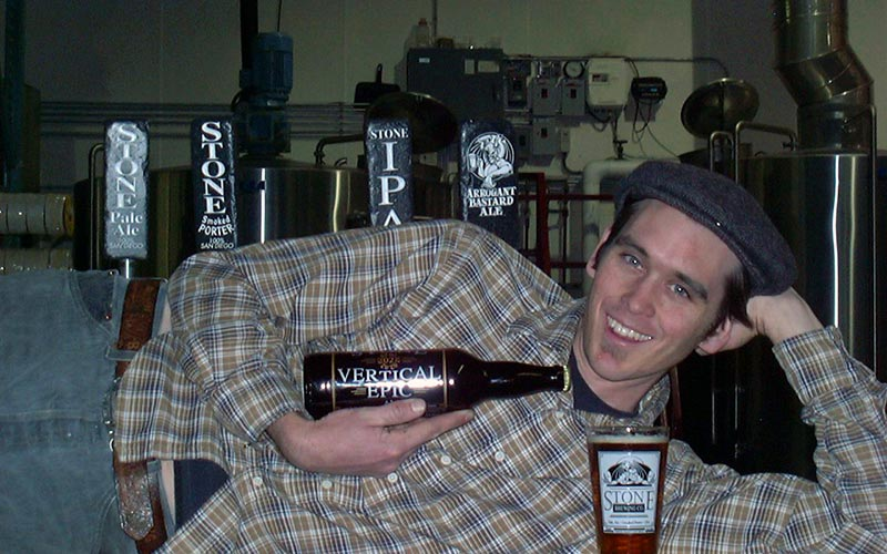 Posing with the vertical epic ale