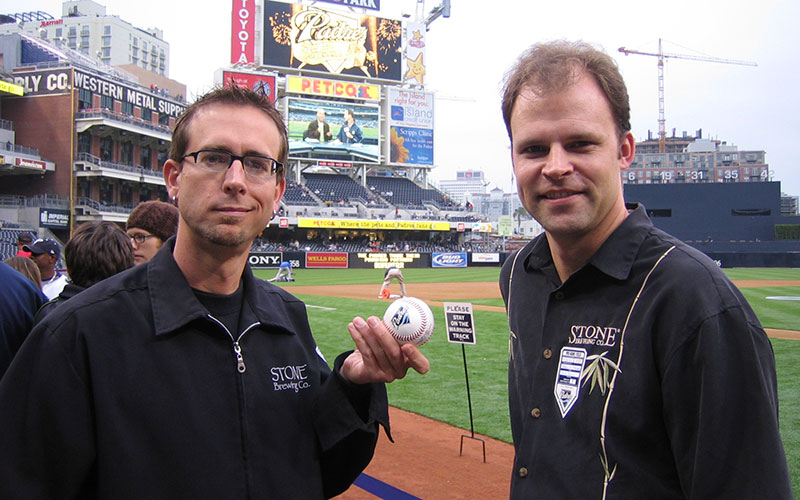 Greg Koch and Bryon Wischstadt at the padres game