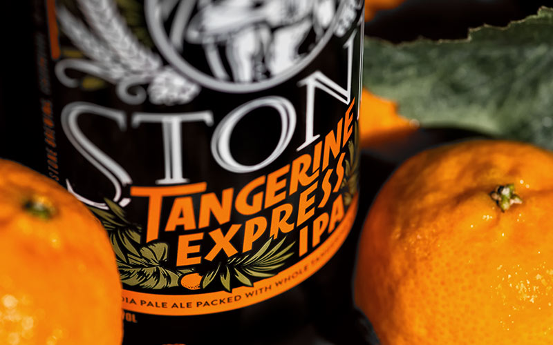 Tangerine Express bottle with tangerines