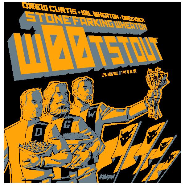 Drew Curtis / Wil Wheaton / Greg Koch Stone Farking Wheaton wootstout
