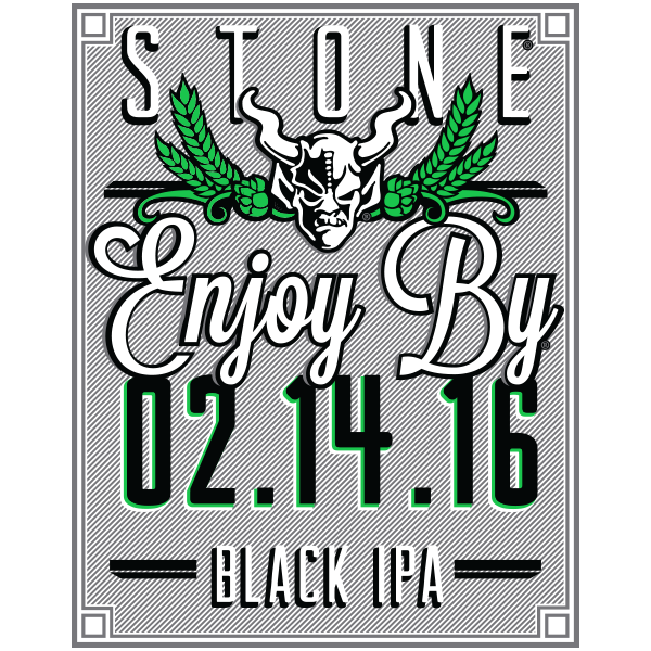 Stone Enjoy By 02.14.16 Black IPA