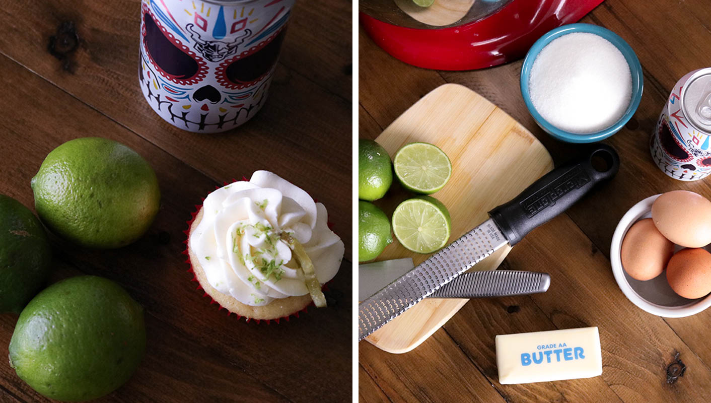 Stone buenaveza cupcakes and ingredients
