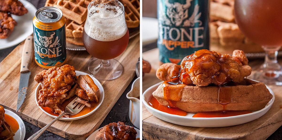 Fried Chicken & Beer Waffles 2