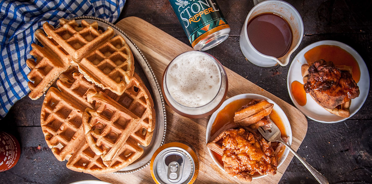 Fried Chicken & Beer Waffles 1