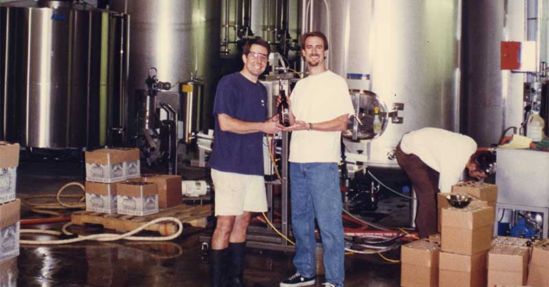 Greg and Steve in the brewery