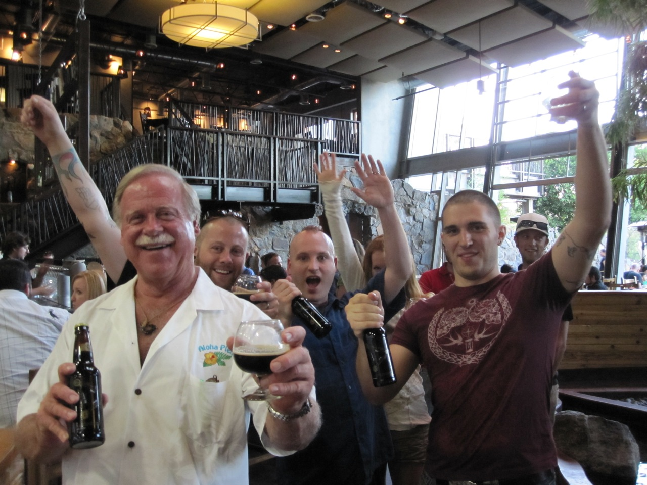 Ken Schmidt celebrating with fellow craft beer revelers in the Bistro on Monday night for our Ken Schmidt GABF Send-off Party