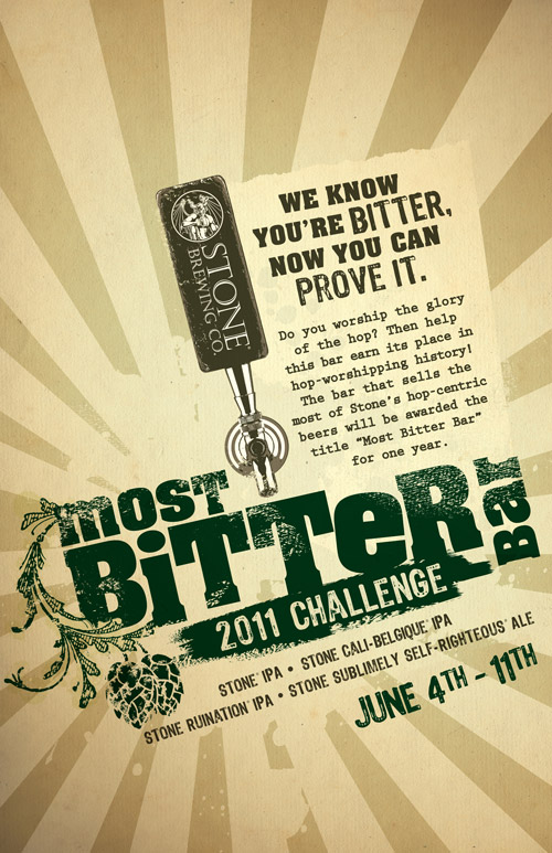 Most bitter bar challenge poster