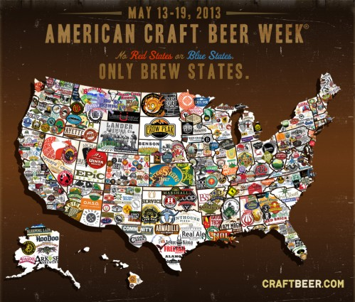 American Craft Beer Week map of logos