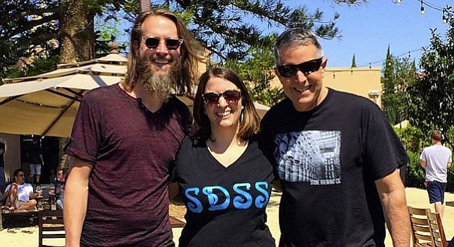 AHA Competition winner Juli Goldenberg poses post-victory with Stone Co-founders Greg Koch (left) and Steve Wagner.