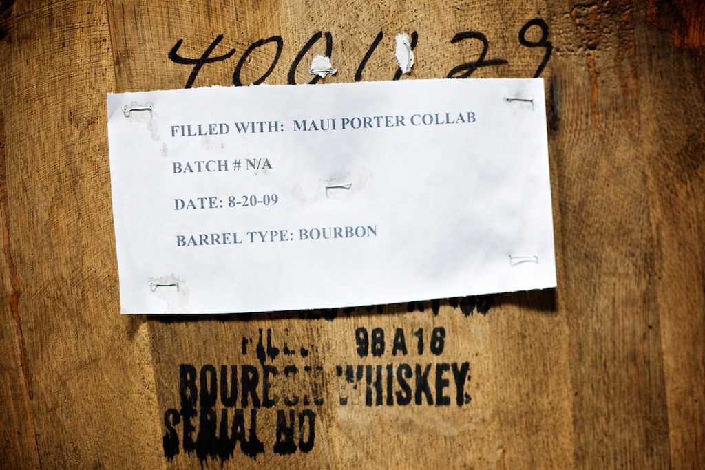 label on a barrel