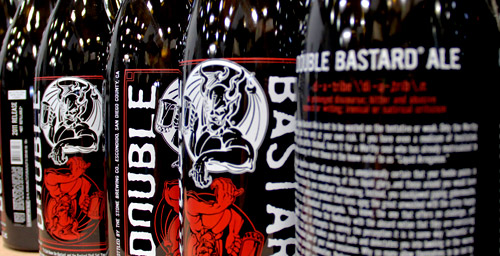 bottles of Double Bastard Ale