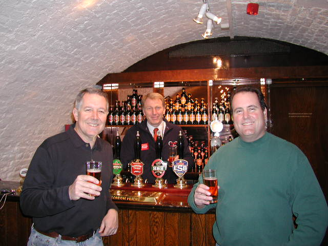 Steve and Mitch enjoying a beer at Shepherd Neame. Read Steve's notes from last year's e-mail nesletter.