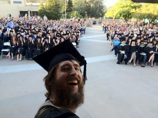 Pic Greg Koch tweeted while giving the commencement speech to the 2012 Cuyamaca College graduating class