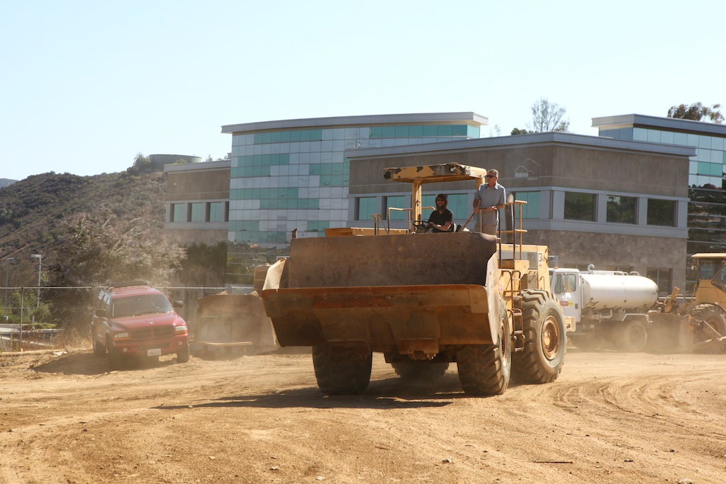 Greg & Steve pull up to the groundbreaking ceremony in style