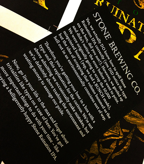 Stone ruination back label