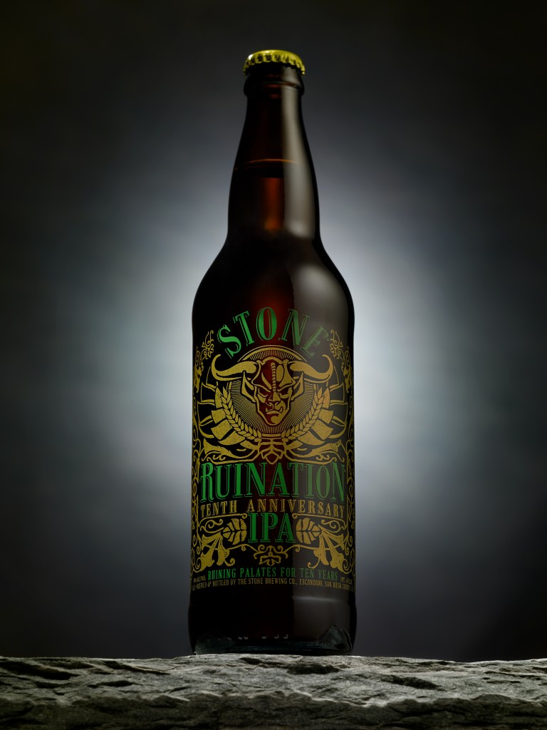 Stone Ruination 10th Anniversary IPA Bottle
