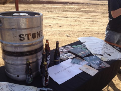 Stone Packaging Hall time capsule, made from a decommissioned keg