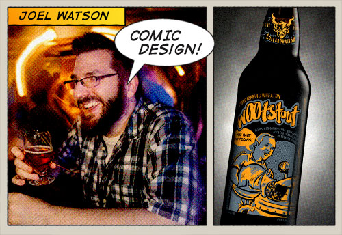 Joel Watson with his wootstout design