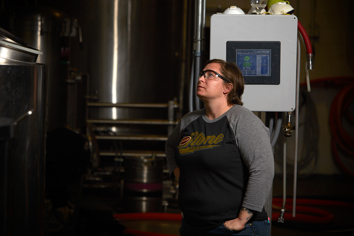 Laura Brewing at Odell