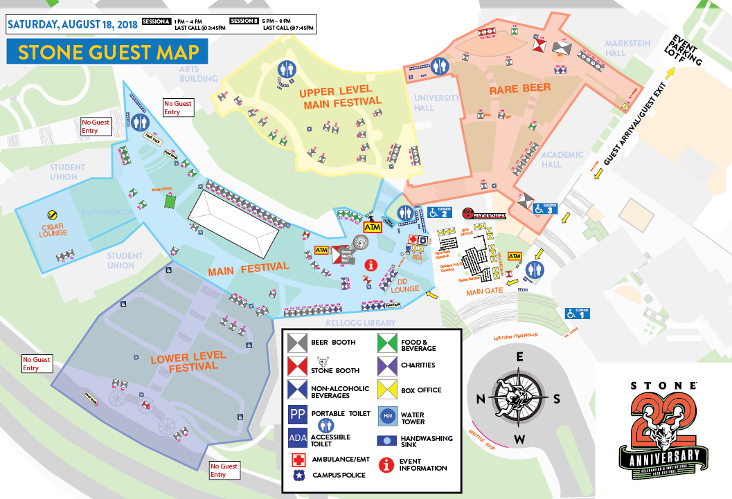 Saturday Festival Map