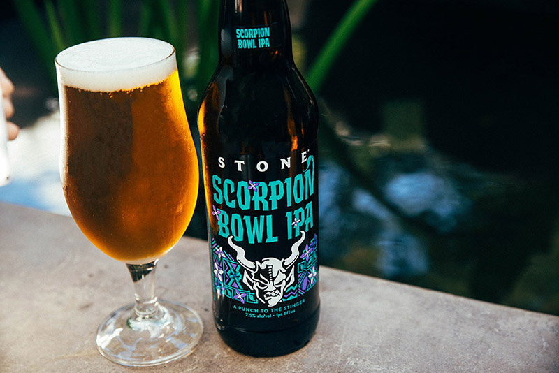 Scorpion Bowl glass and bottle