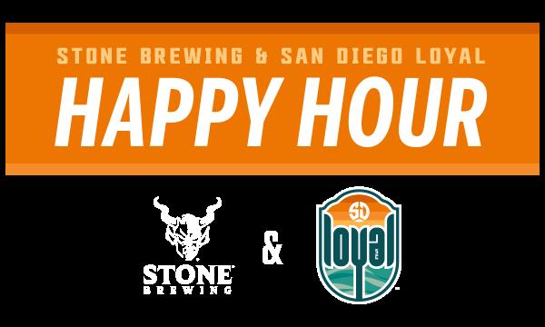 Stone Brewing & San Diego Loyal Happy Hour