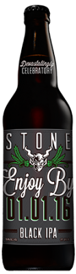 Stone Enjoy By 01.01.16 Black IPA bottle
