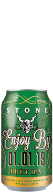 Stone Enjoy By 01.01.19 BRÜT IPA can