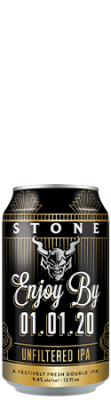 Stone Enjoy By 01.01.20 Unfiltered IPA can