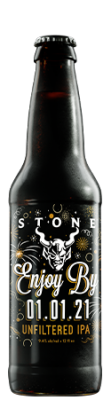 Stone Enjoy By 01.01.21 Unfiltered IPA bottle