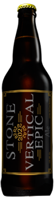 Stone 02.02.02 Vertical Epic Ale bottle