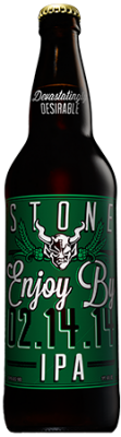 Stone Enjoy By 02.14.14 IPA bottle