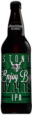 Stone Enjoy By 02.14.15 IPA bottle