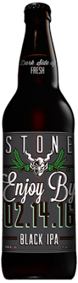 Stone Enjoy By 02.14.16 Black IPA bottle