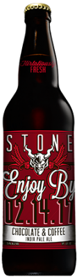 Stone Enjoy By 02.14.17 Chocolate & Coffee IPA bottle