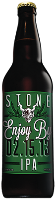 Stone Enjoy By 02.15.13 IPA bottle