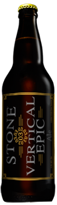 Stone 03.03.03 Vertical Epic Ale bottle