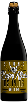Stone Enjoy After 03.14.16 Brett IPA bottle