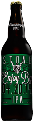 Stone Enjoy By 04.20.14 IPA bottle
