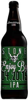 Stone Enjoy By 04.20.15 IPA bottle
