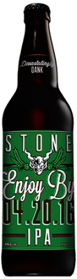 Stone Enjoy By 04.20.16 IPA bottle
