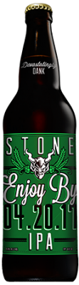 Stone Enjoy By 04.20.17 IPA bottle