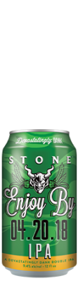 Stone Enjoy By 04.20.18 IPA can