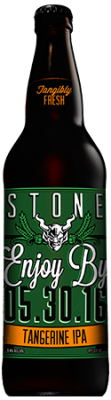 Stone Enjoy By 05.30.16 Tangerine IPA bottle