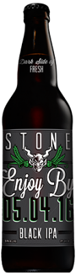 Stone Enjoy By 05.04.16 Black IPA bottle