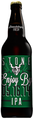 Stone Enjoy By 05.16.14 IPA bottle